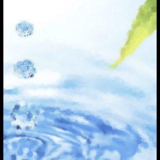 Desenfoque de agua Fondo de pantalla iPhone SE / iPhone5s / 5c / 5