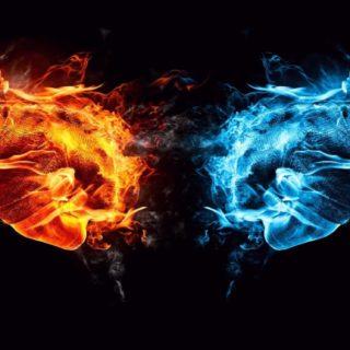 guay negro, azul, rojo Fondo de pantalla iPhone SE / iPhone5s / 5c / 5