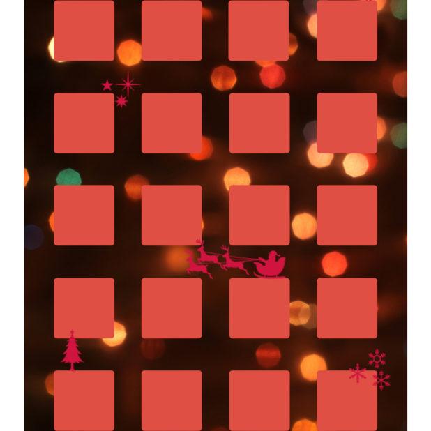 Estantería de Navidad las mujeres de la luz rojo Fondo de Pantalla de iPhone7Plus