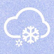 El tiempo nublado azul púrpura Fondo de Pantalla de iPhone8