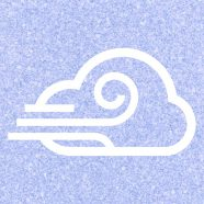viento nublado azul púrpura Fondo de Pantalla de iPhone8