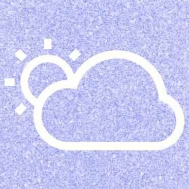 La nube del sol tiempo Blue púrpura Fondo de Pantalla de iPhone8