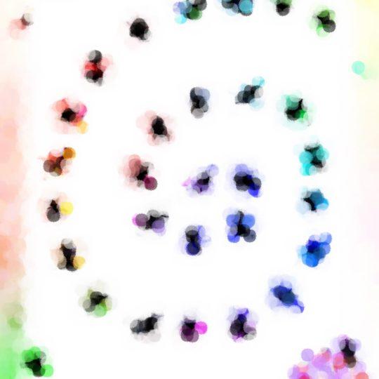 Spiral berwarna Android SmartPhone Wallpaper
