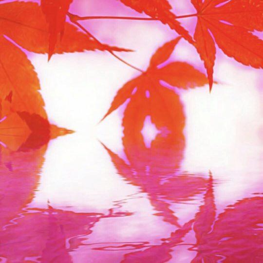Musim gugur meninggalkan danau Android SmartPhone Wallpaper