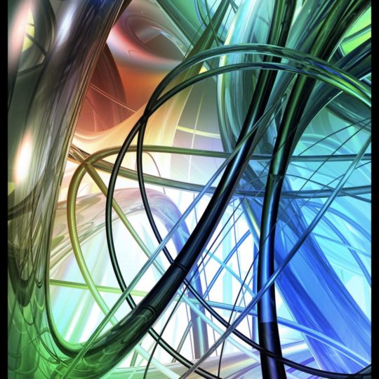 Spiral berwarna Android SmartPhone Wallpaper