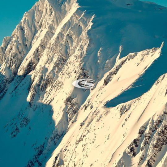 lanskap gunung bersalju Android SmartPhone Wallpaper