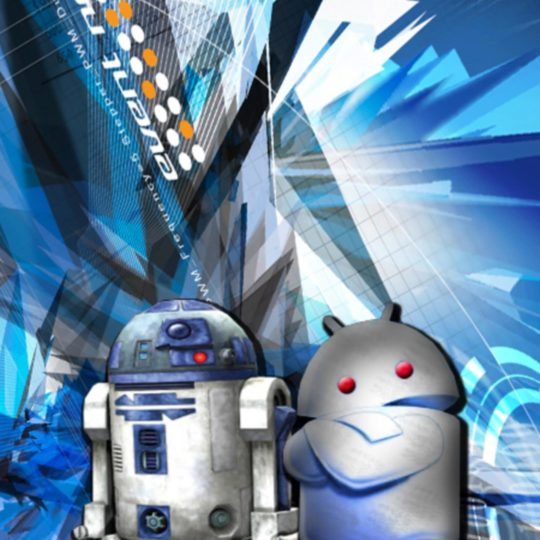 Logo android R2D2 Android SmartPhone Wallpaper