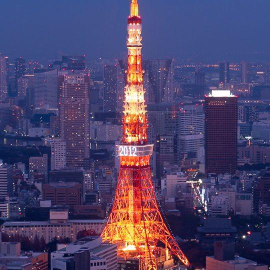 pemandangan Menara Tokyo Android SmartPhone Wallpaper
