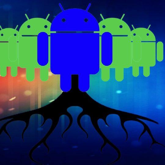 logo Android hijau biru Android SmartPhone Wallpaper