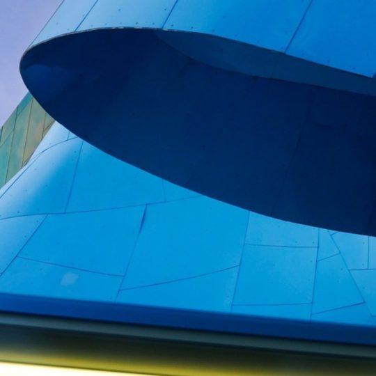 pemandangan biru bangunan Android SmartPhone Wallpaper