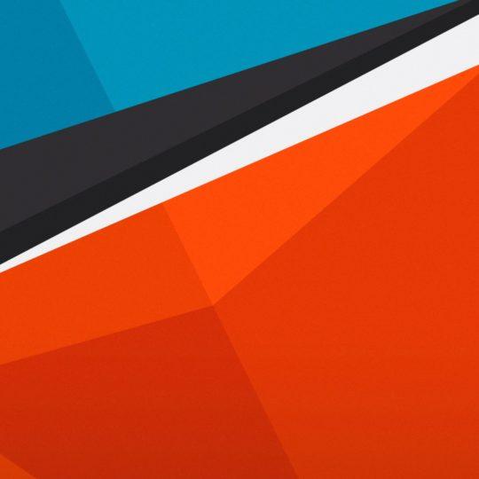 Pola merah biru Android SmartPhone Wallpaper