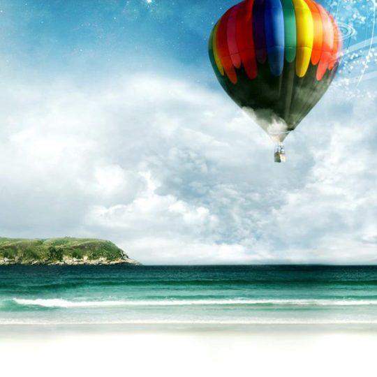 pemandangan balon Android SmartPhone Wallpaper