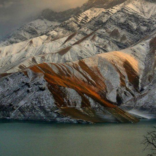 lanskap gunung berbatu Android SmartPhone Wallpaper