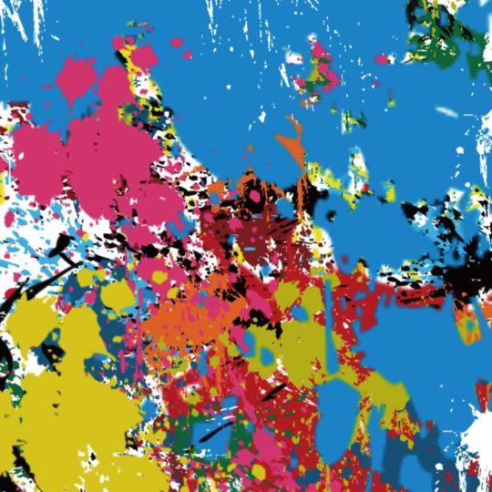 Pola ilustrasi warna-warni Android SmartPhone Wallpaper