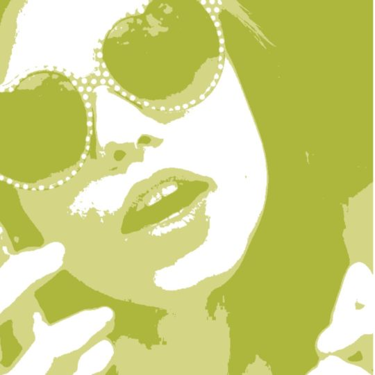 Karakter wanita kuning Android SmartPhone Wallpaper