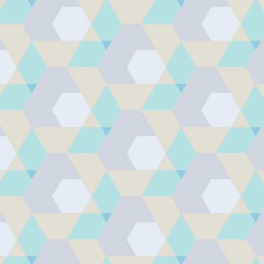 pola geometris Hijau kuning Android SmartPhone Wallpaper