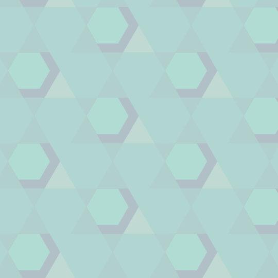 pola geometris Biru hijau Android SmartPhone Wallpaper