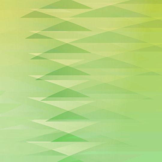 segitiga pola gradien Kuning hijau Android SmartPhone Wallpaper
