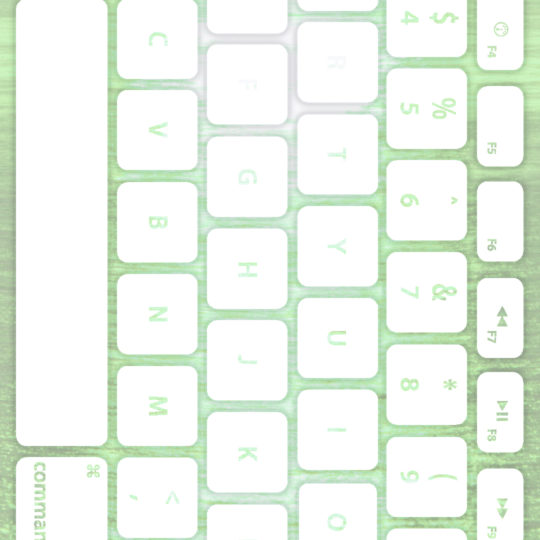 Keyboard laut hijau putih Android SmartPhone Wallpaper