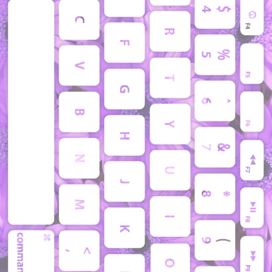 Keyboard bunga ungu putih Android SmartPhone Wallpaper