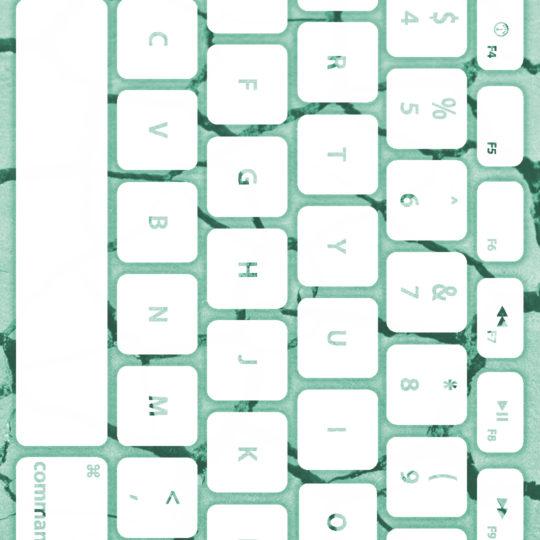 Keyboard tanah Biru-hijau putih Android SmartPhone Wallpaper