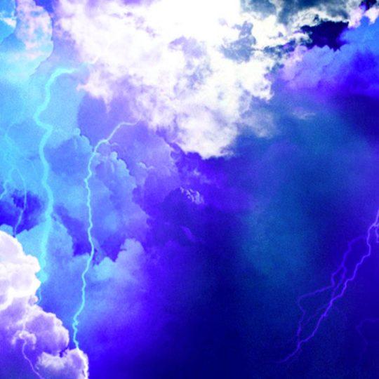 ᅠlangit awan Kaminari biru Android SmartPhone Wallpaper
