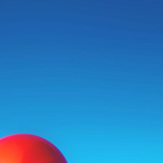 pemandangan langit balon merah Android SmartPhone Wallpaper