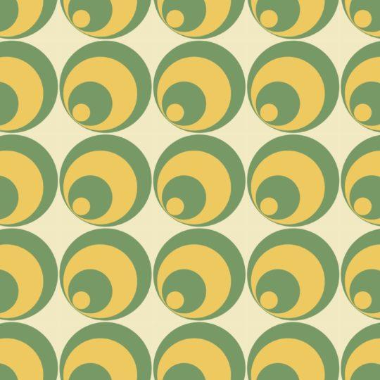 lingkaran pola kuning hijau Android SmartPhone Wallpaper