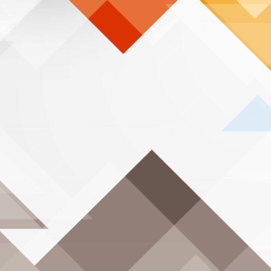 Pola segitiga merah putih biru Android SmartPhone Wallpaper