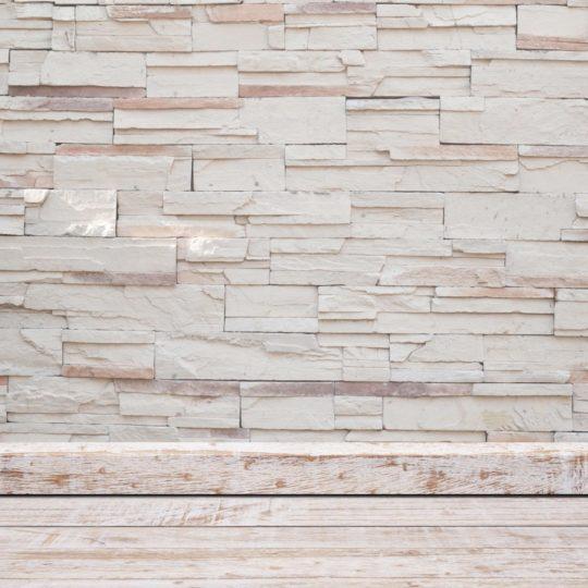 Putih papan lantai dinding batu Android SmartPhone Wallpaper