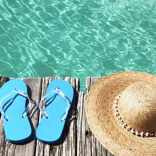 sandal hat laut Beach Android SmartPhone Wallpaper