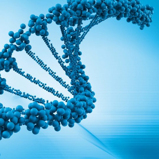DNA keren genom gen biru Android SmartPhone Wallpaper