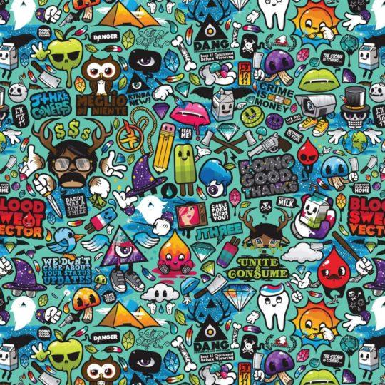 pola karakter Android SmartPhone Wallpaper