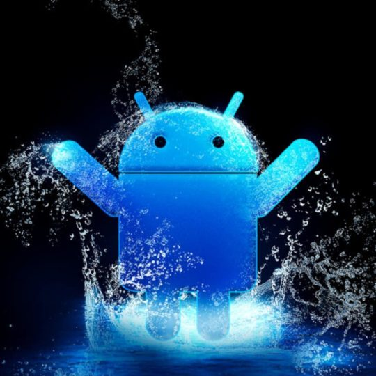 biru logo Android Android SmartPhone Wallpaper