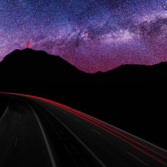 lanskap jalan malam Android SmartPhone Wallpaper
