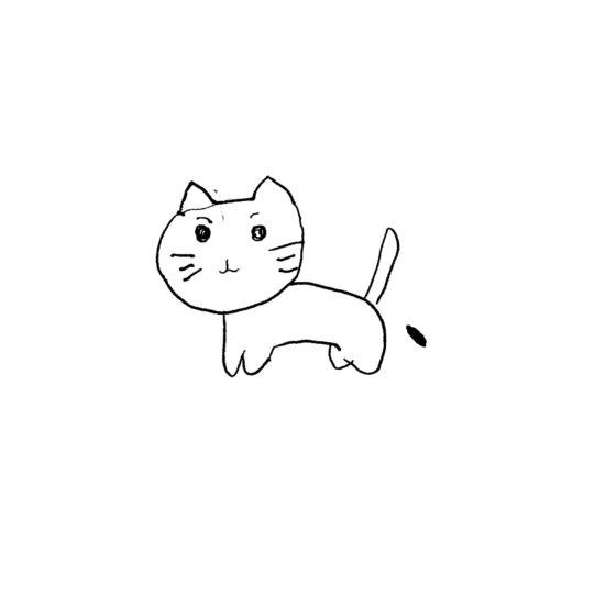 Ilustrasi kucing putih Android SmartPhone Wallpaper