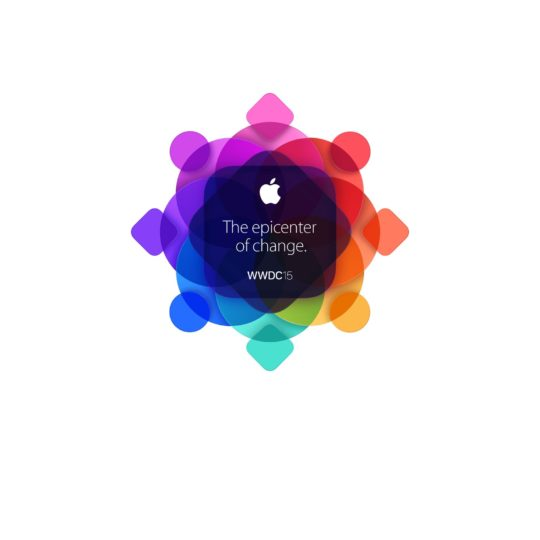Logo Apple berwarna-warni WWDC15 Android SmartPhone Wallpaper