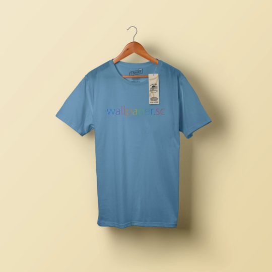 Biru T-shirt Android SmartPhone Wallpaper