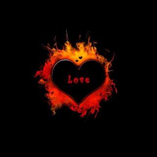 Merah dan hitam Jantung keren