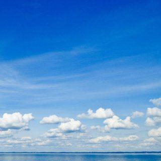 pemandangan langit biru laut