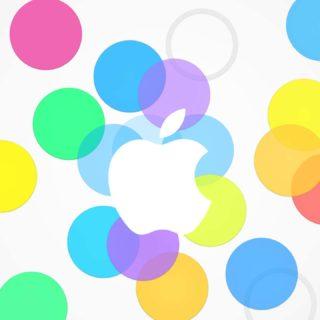 logo apel berwarna-warni