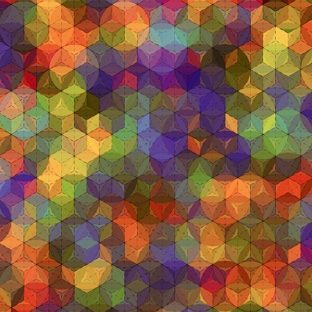 ilustrasi warna-warni tekstur Apple Watch photo face Wallpaper