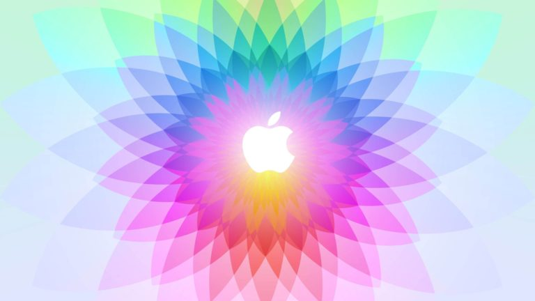Ilustrasi warna-warni logo Apple Desktop PC / Mac Wallpaper