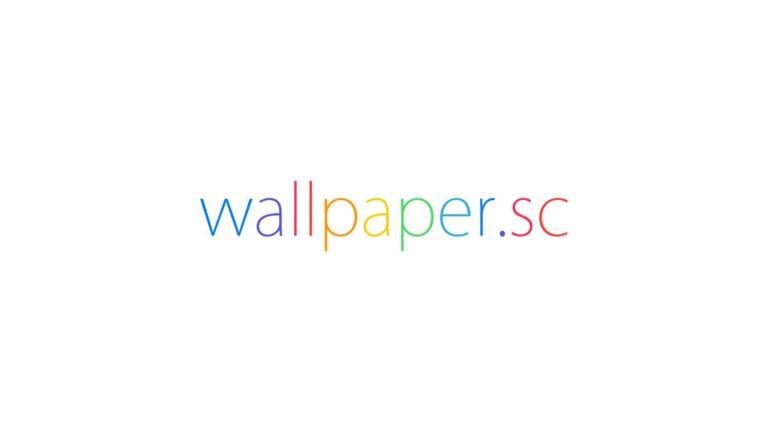 wallpaper.sc logo putih Desktop PC / Mac Wallpaper