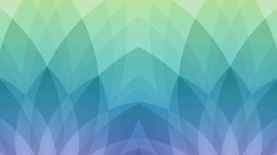 Pola ilustrasi Apel hijau biru