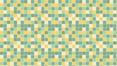 Pola kotak kuning hijau biru