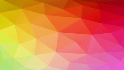 Pola poligon berwarna-warni