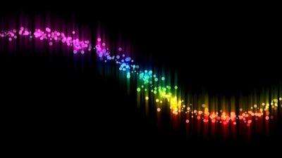 Ilustrasi garis warna-warni hitam