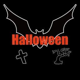 halloween hitam iPad / Air / mini / Pro Wallpaper