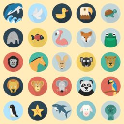 Ilustrasi hewan kuning berwarna-warni untuk wanita iPad / Air / mini / Pro Wallpaper